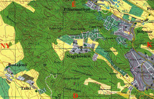 Nagykovacsi Hegy Es Vizrajzi Terkepe