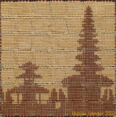 Бали (Бедугул), картинка из спичек